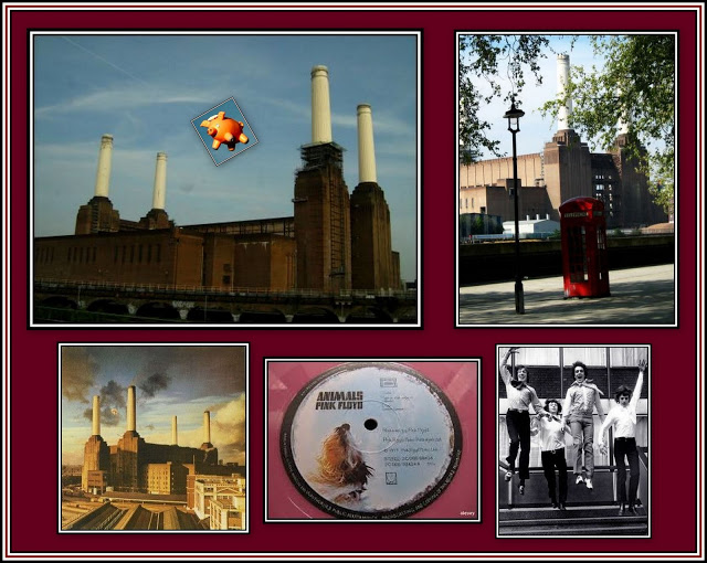 Battersea Power Station and Pink Floyd Collage