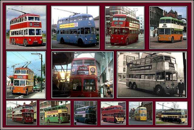 British Trolleybuses Collage