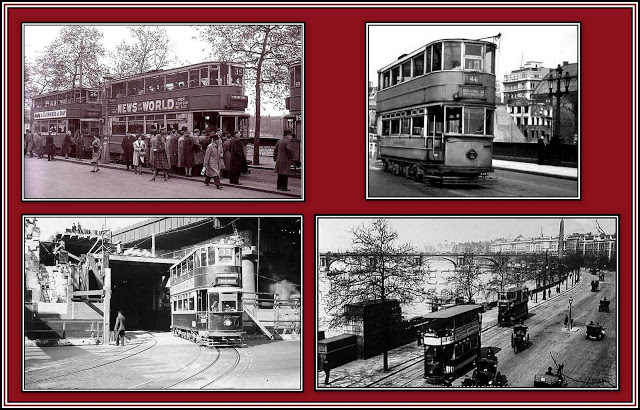 Embankment Trams Collage