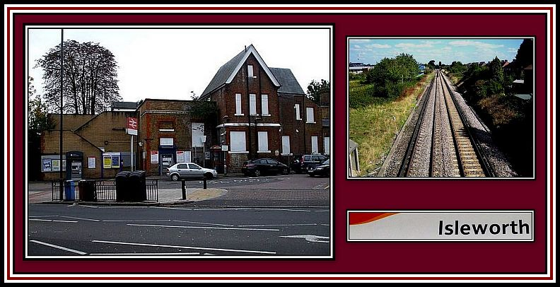 Isleworth Train Station Collage