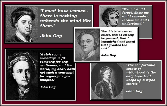 John Gay Quotes Collage