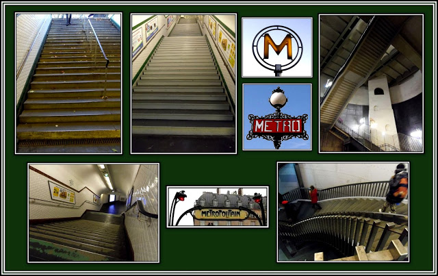 Metro Stairs Collage
