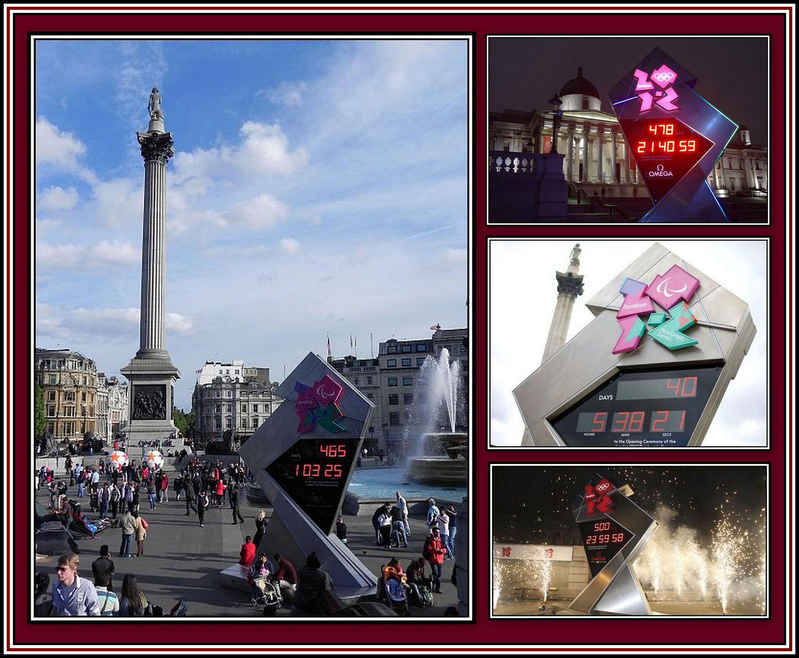 Olympic Clock Collage