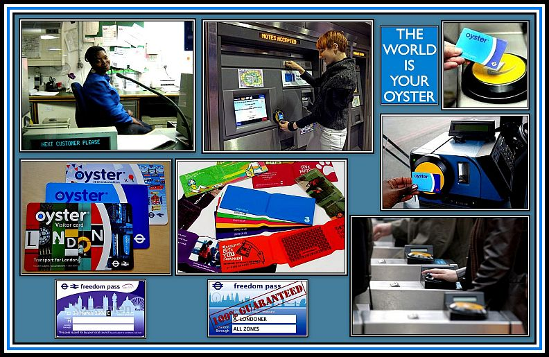 Oyster Card Collage
