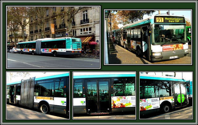 Paris Bendy Bus Collage