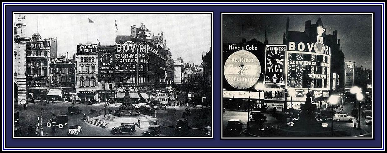 Picadilly Circus - Day & Night