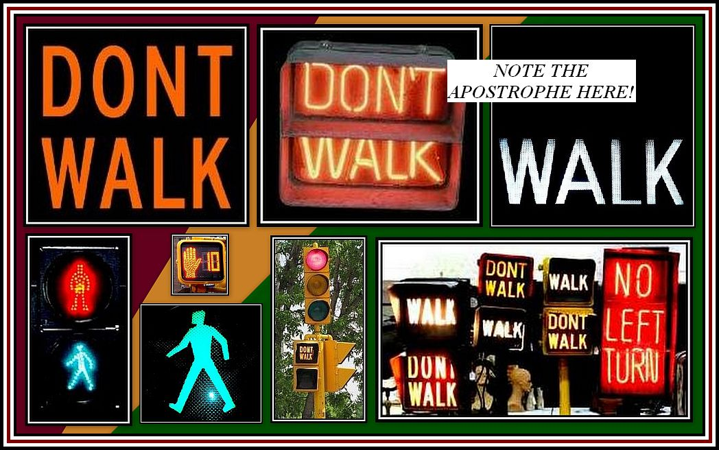 Dont Walk Collage