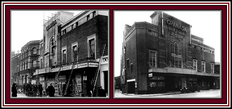 THE GRANADA DOVER Left: during construction in 1930; Right: soon after opening.