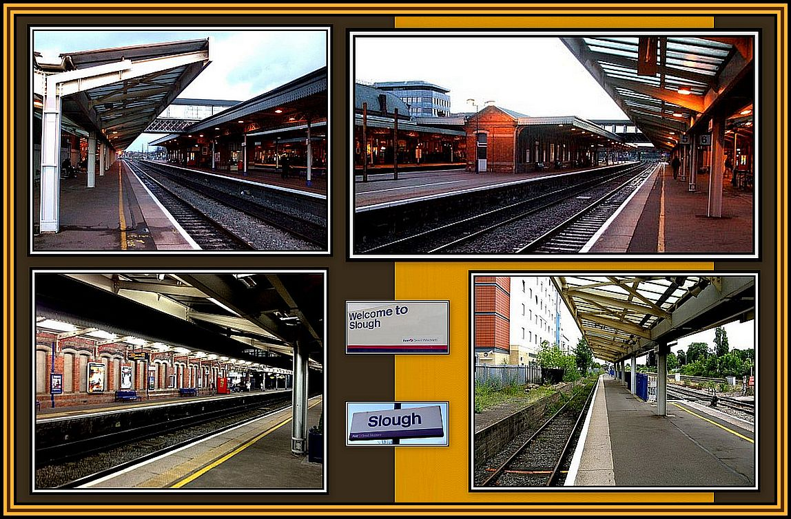 Slough Station Collage