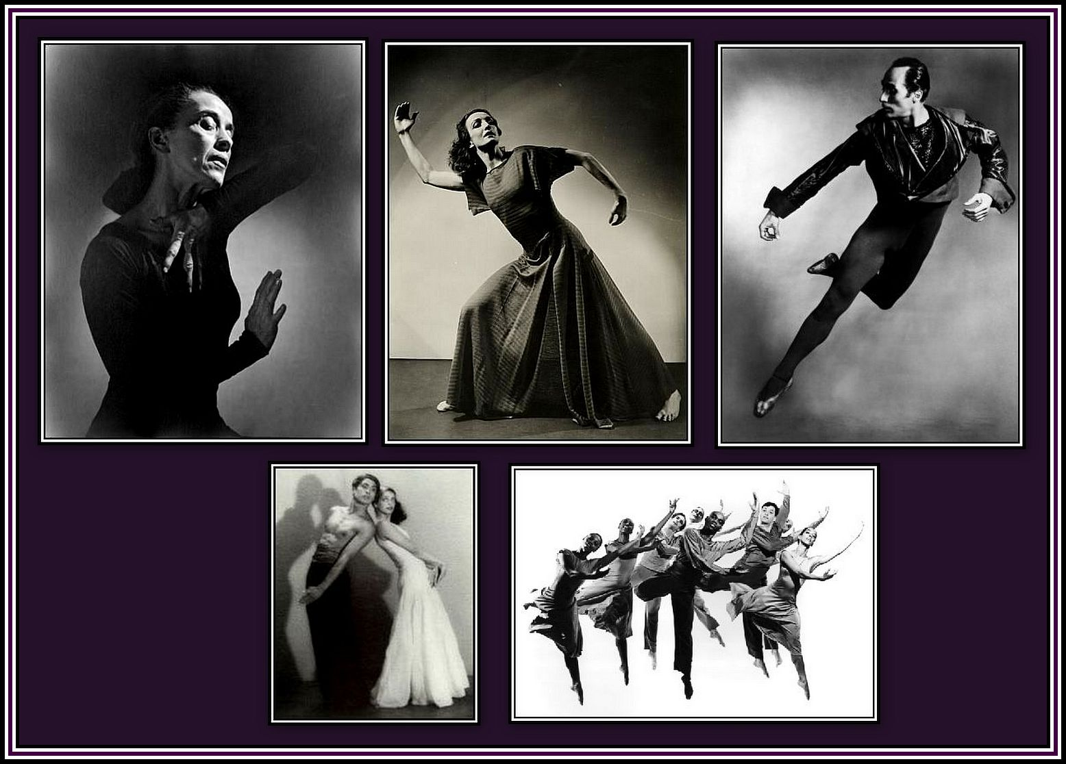 20th Century Dancers Collage