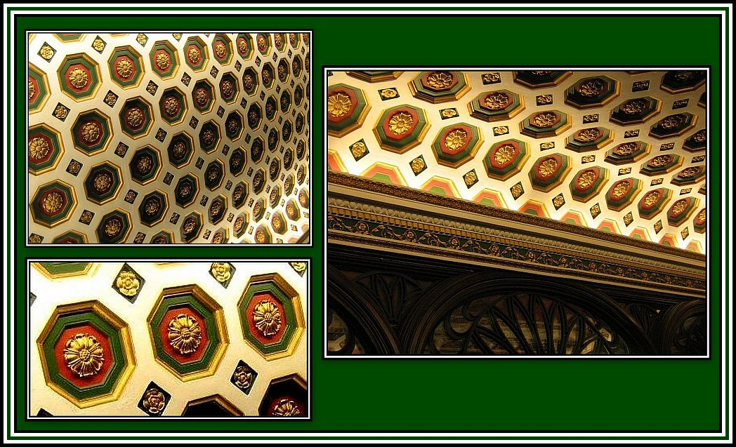 Coffered Ceiling Collage