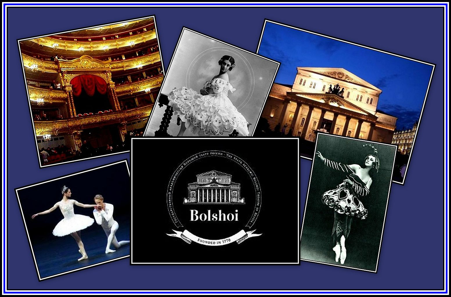 The Bolshoi Over the Years Collage