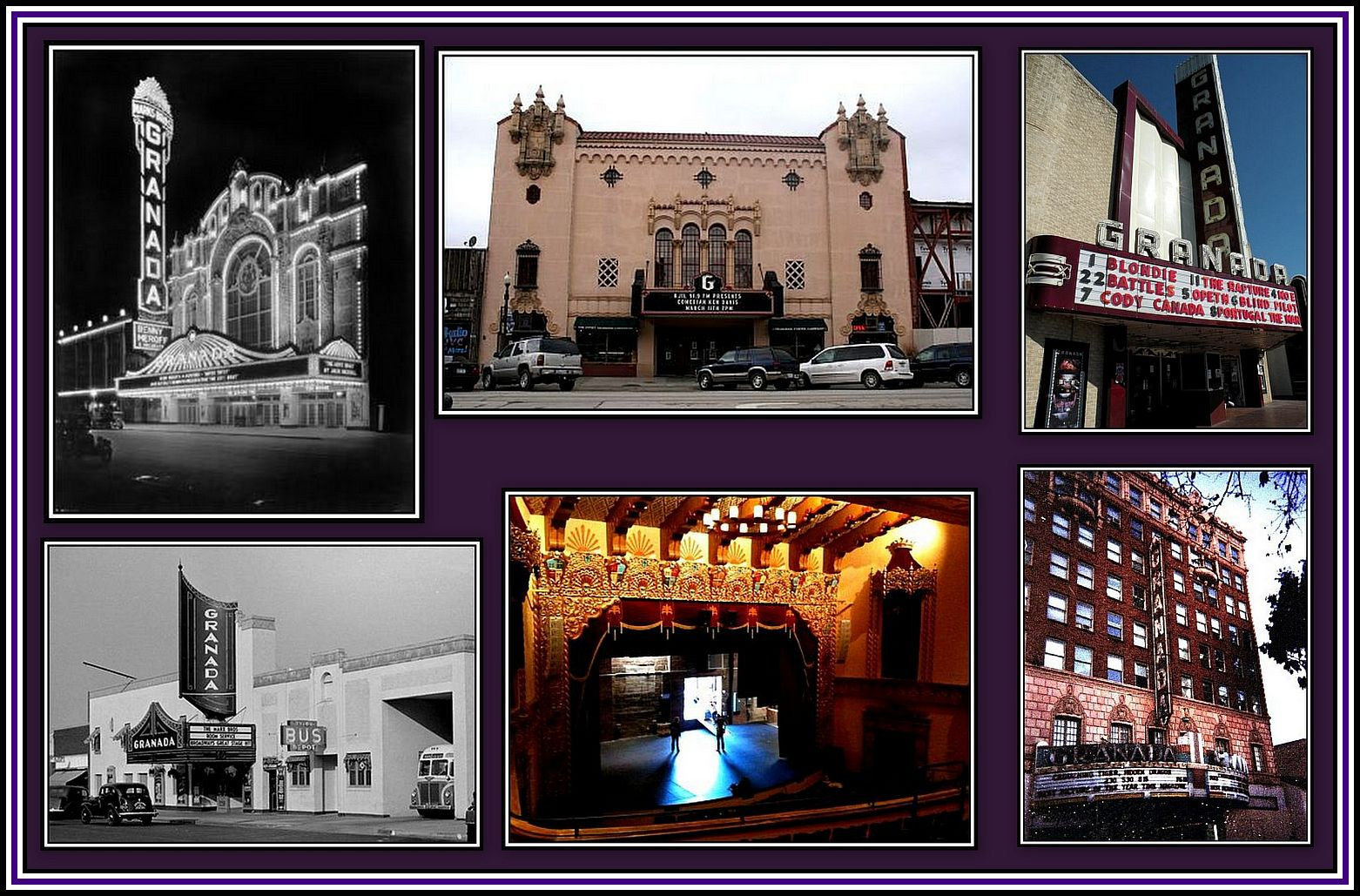 US Granada Theatres Collage