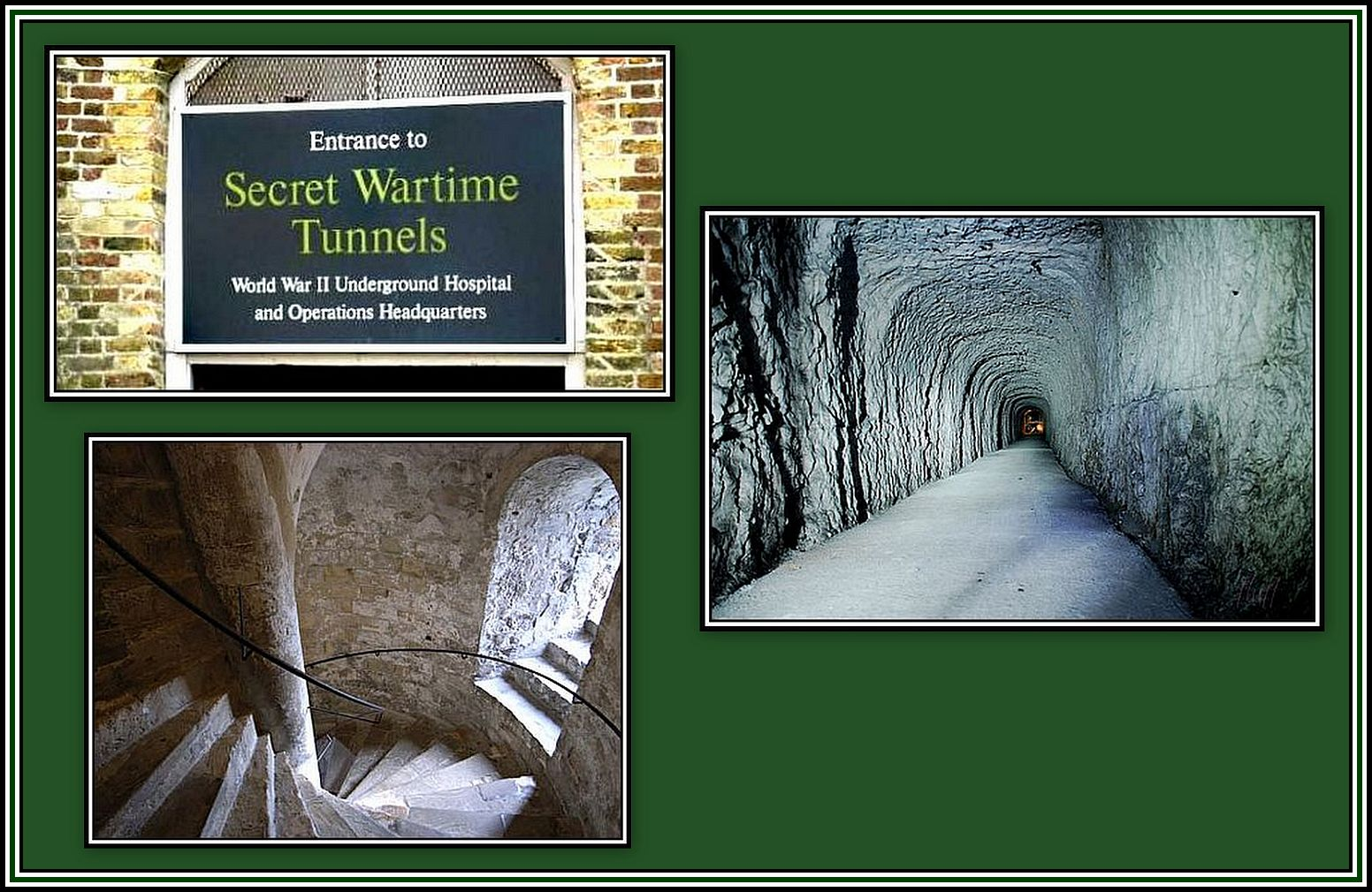 Wartime Tunnels Collage