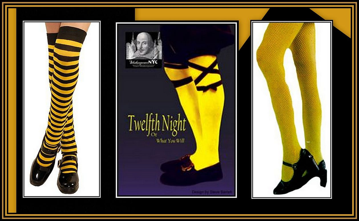 Yellow Stockings Collage