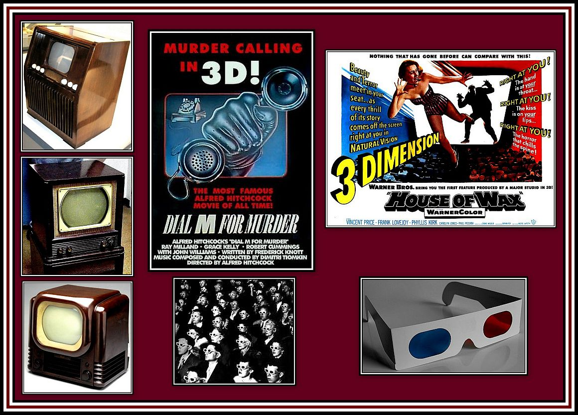 3-D & TV Collage