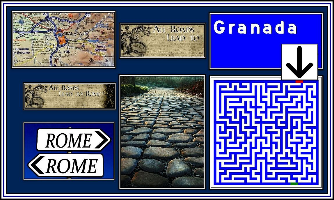 All Roads lead to Rome Collage