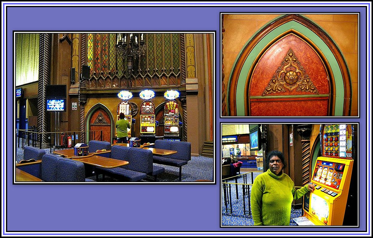 Faux Doors and Pokie Machines Collage