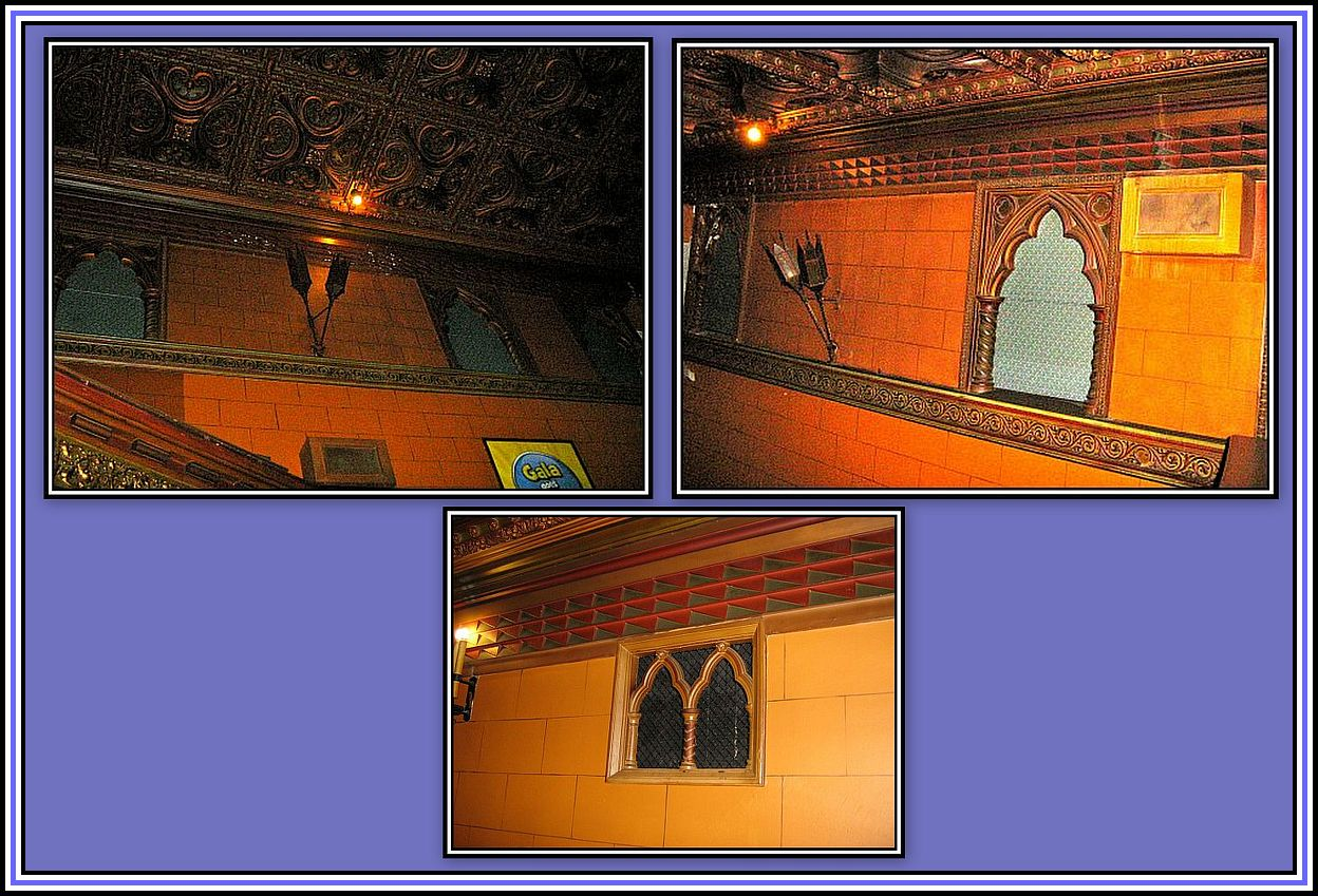 Flaming Torches & Faux Window Collage