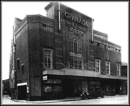 "Dover cinema ""Granada,"" in Castle Street, in 1946, from Dover Express files, when the classic film ""Brief Encounter,"" was on the bill."