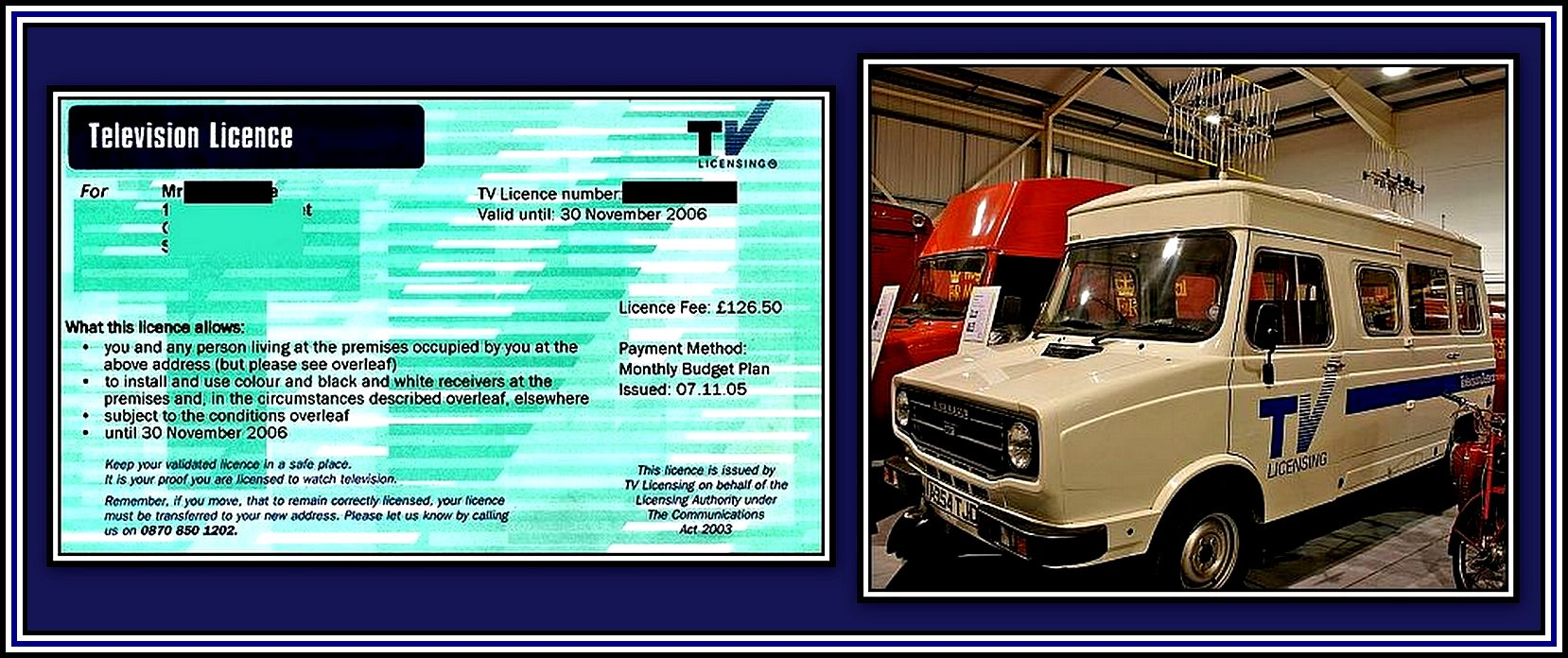 Licence & Van Collage