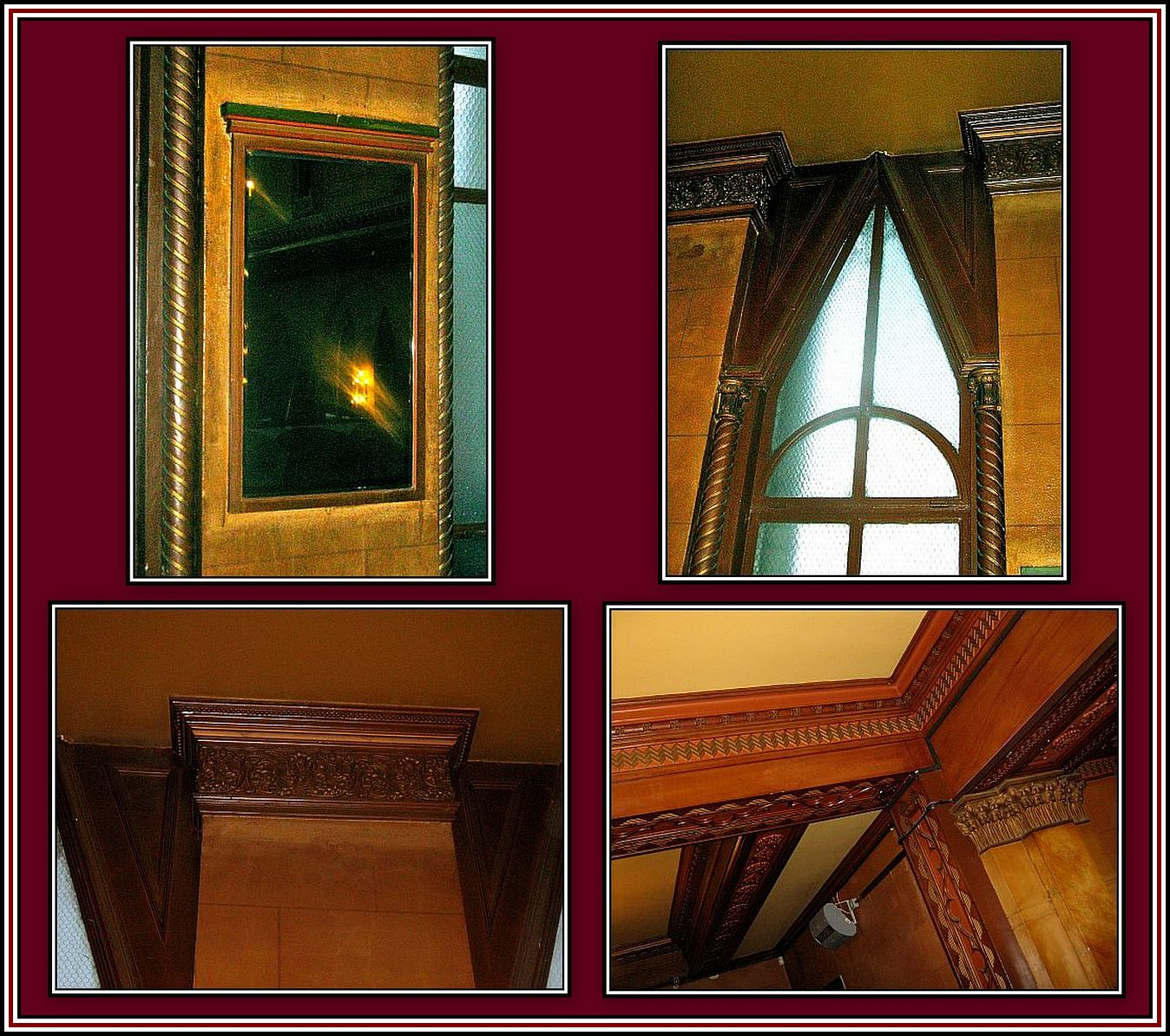 Miror Window and Decoration Collage