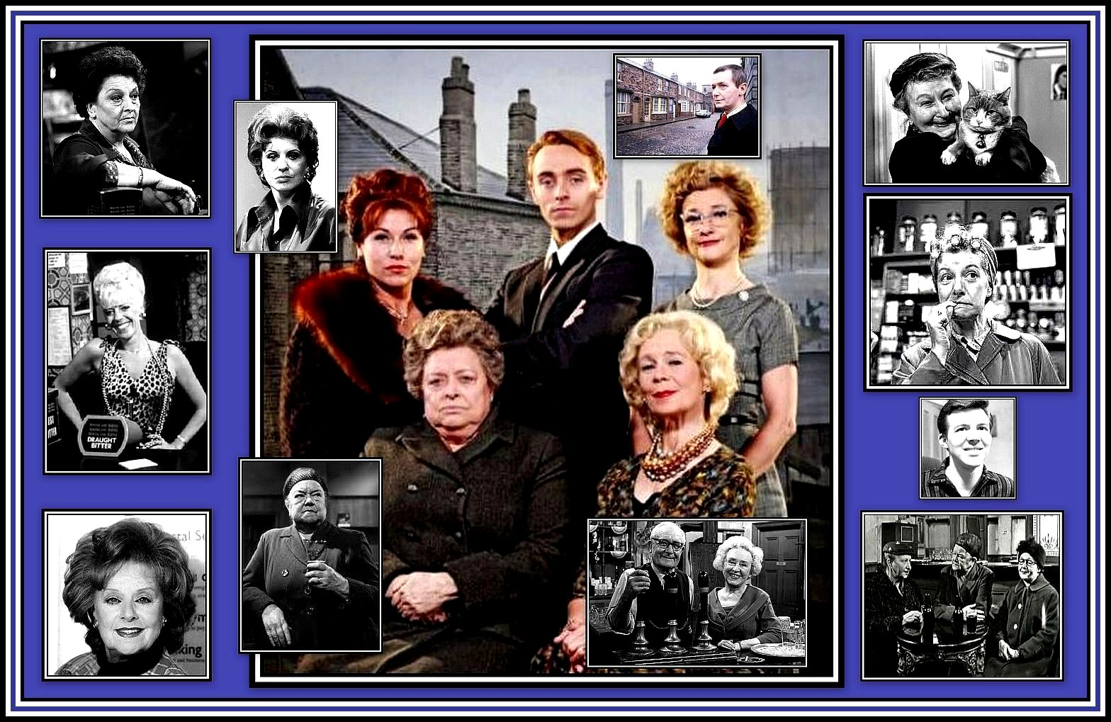 Old and New Coronation Street Collage