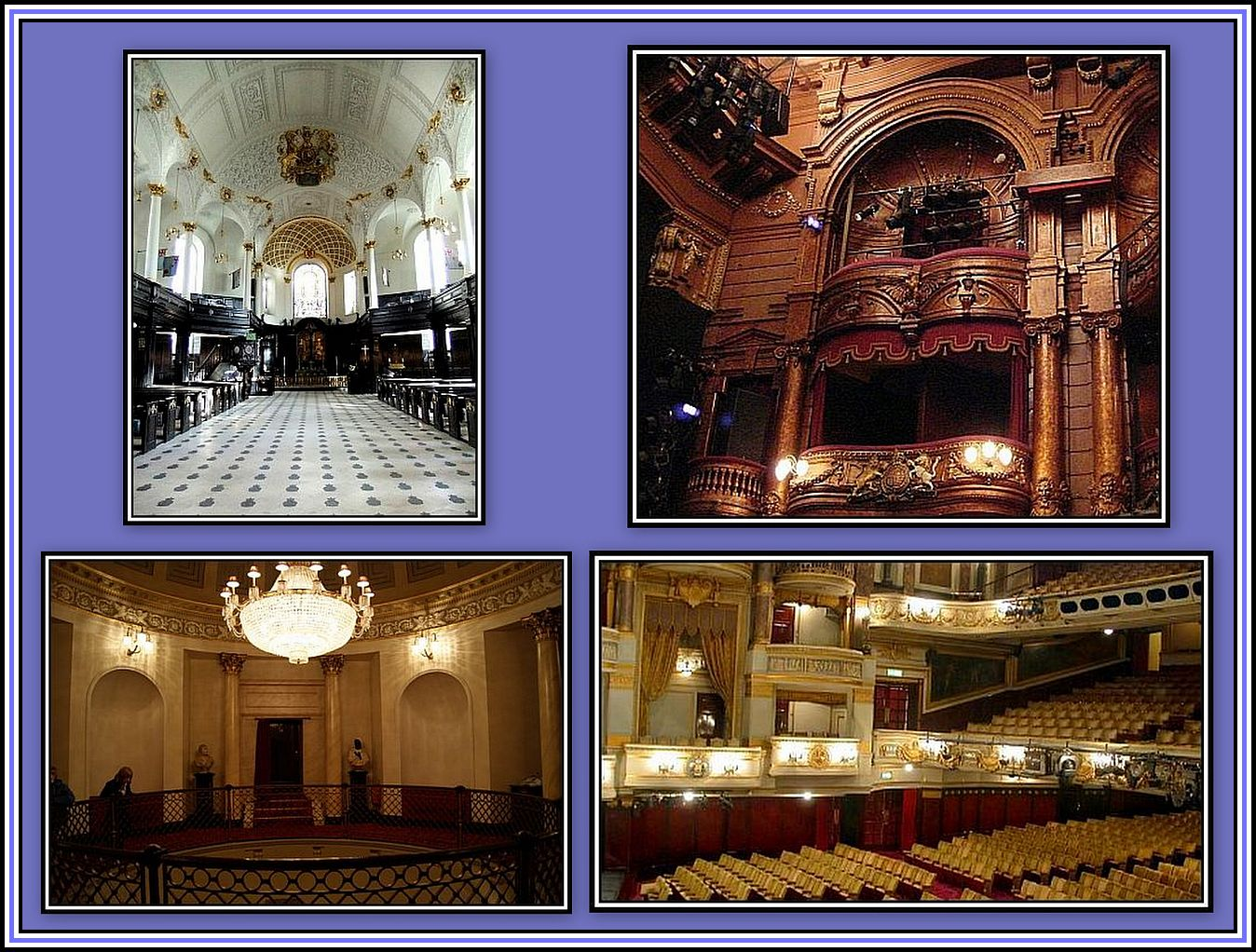 Plastering - Theatres & Church Collage
