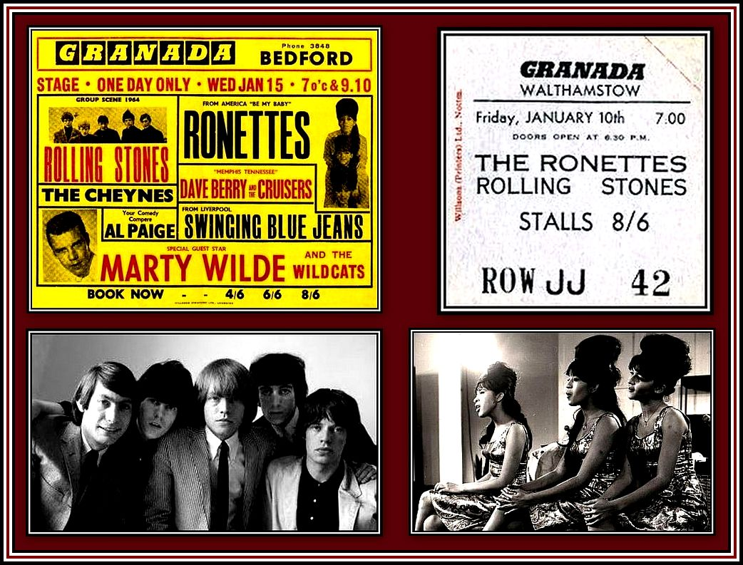 Rolling Stones & Ronettes Collage