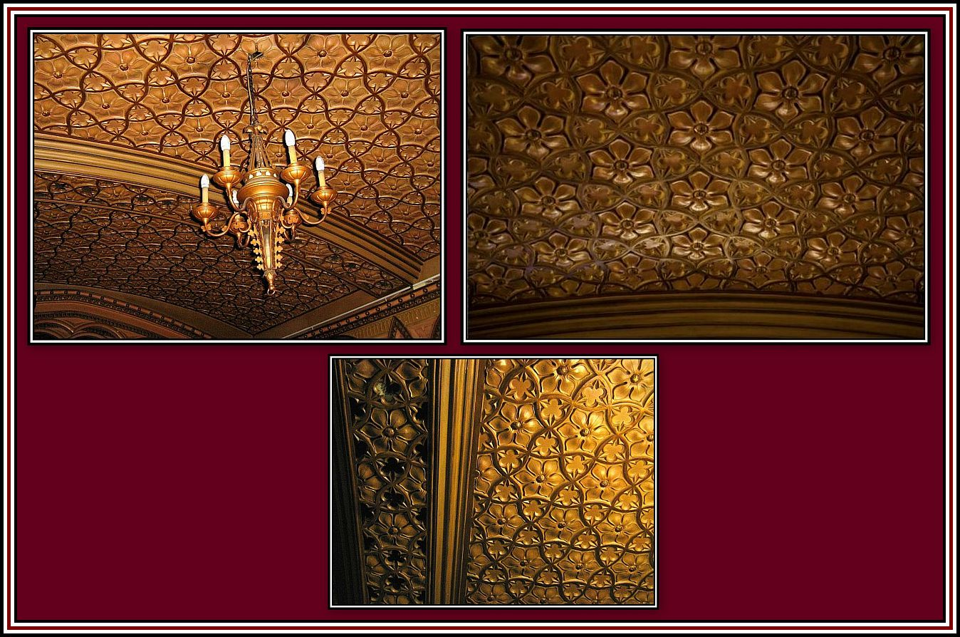 The Hall of Mirrors - Ceiling Details - Collage