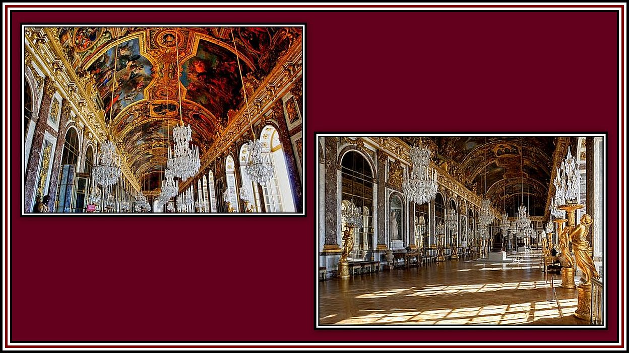 The Hall of Mirrors Versailles Collage