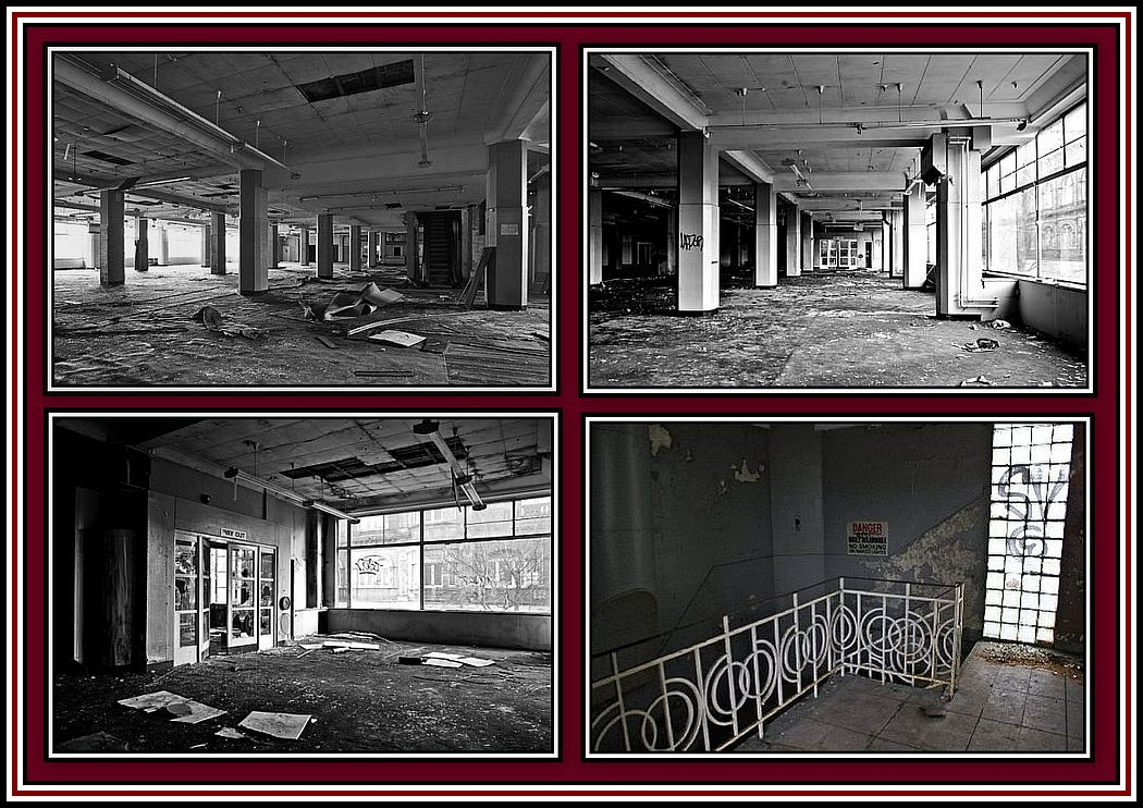 Abandoned Interior Collage