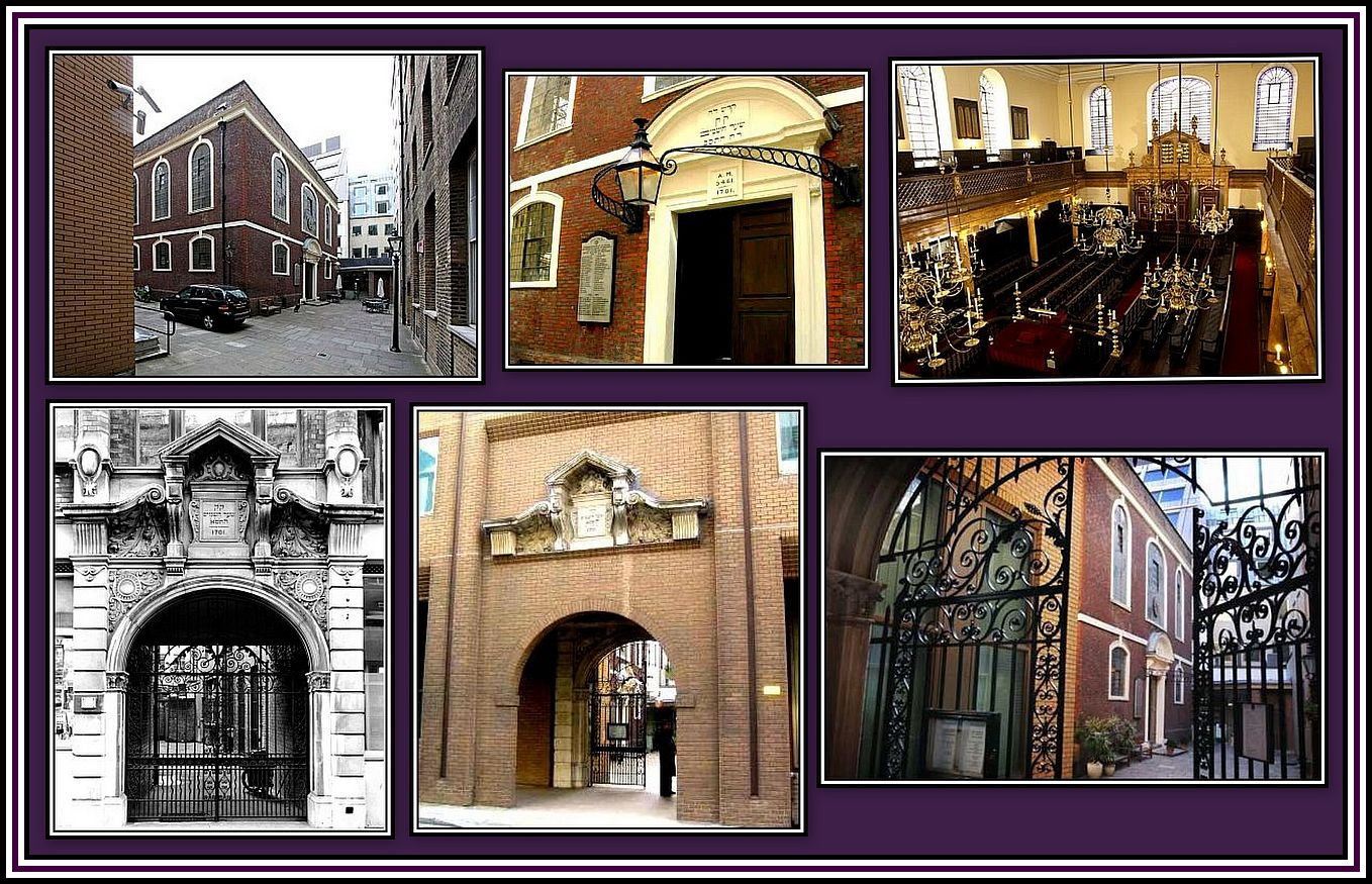 Bevis Marks Synagogue Collage