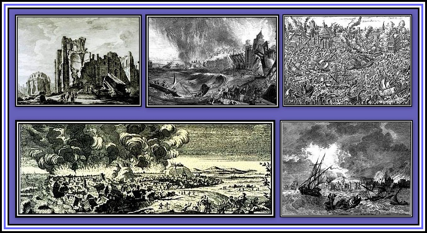 Lisbon Earthquake Collage