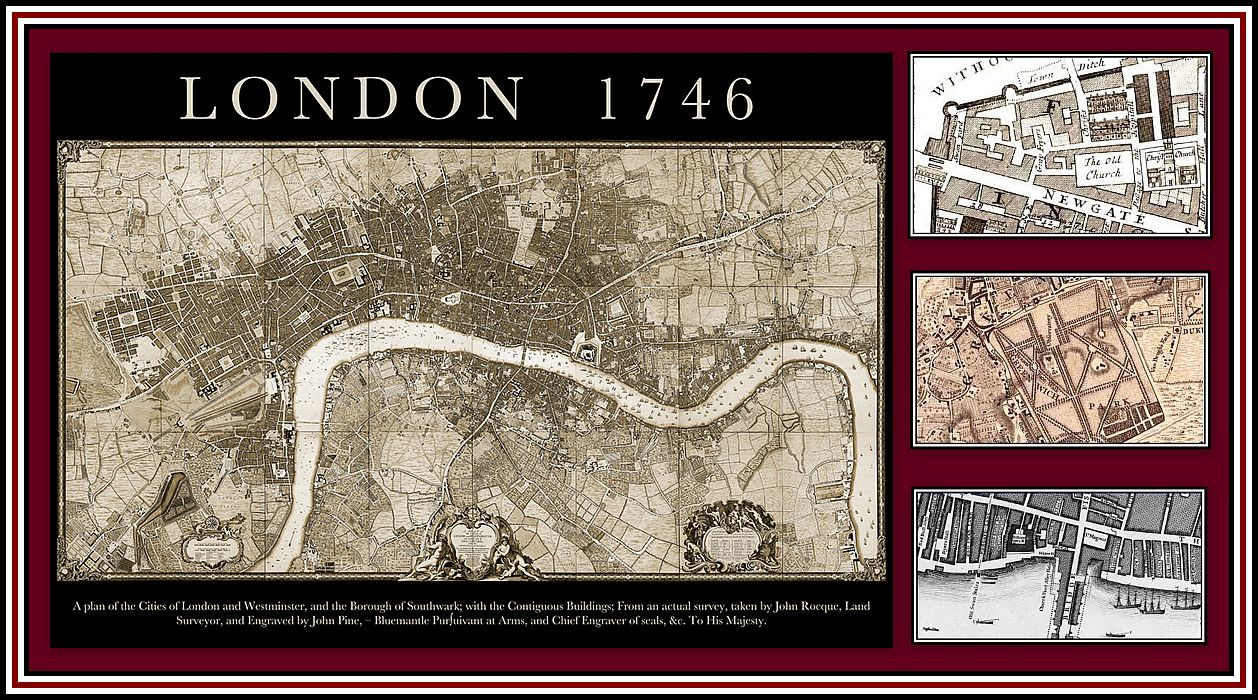 Rocque's Map of London Collage