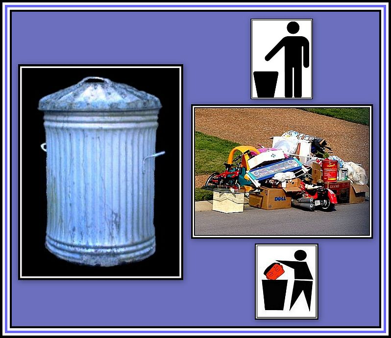Rubbish Collage