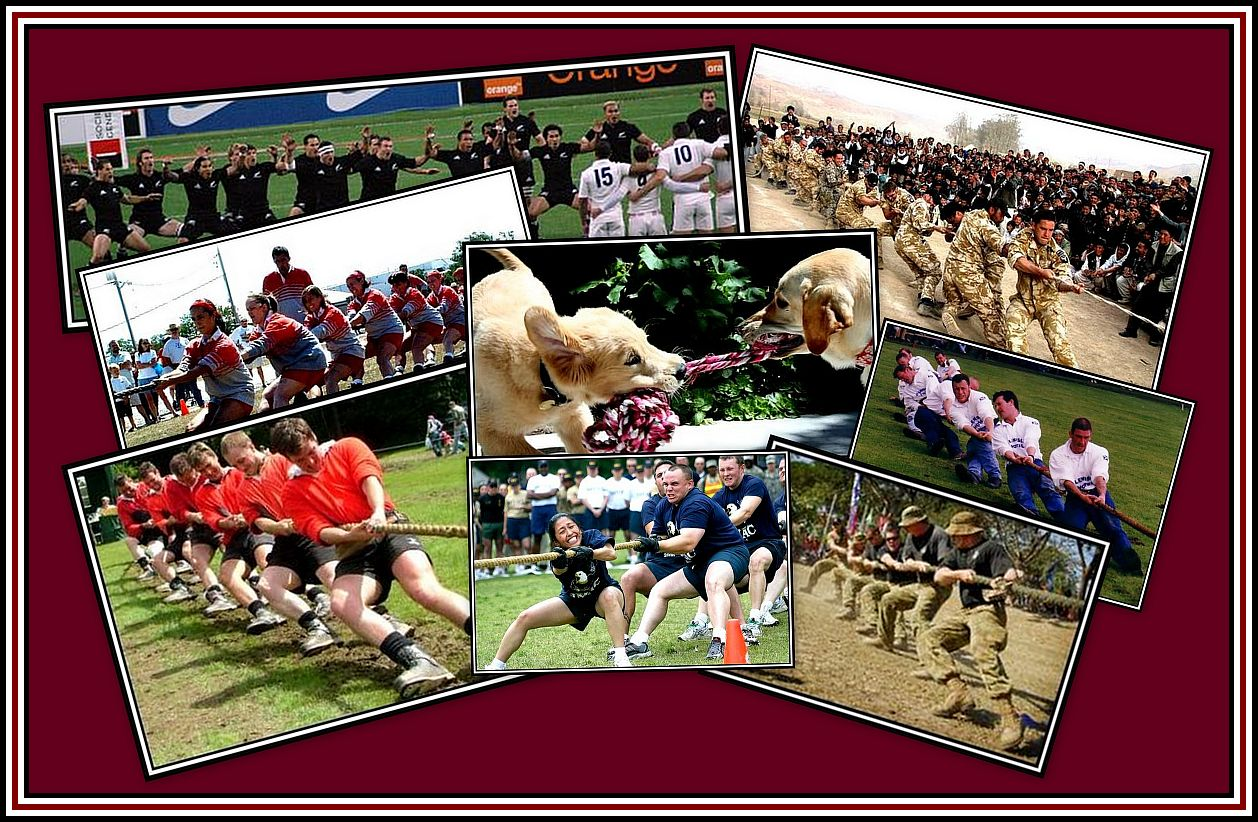 Tug of War Collage