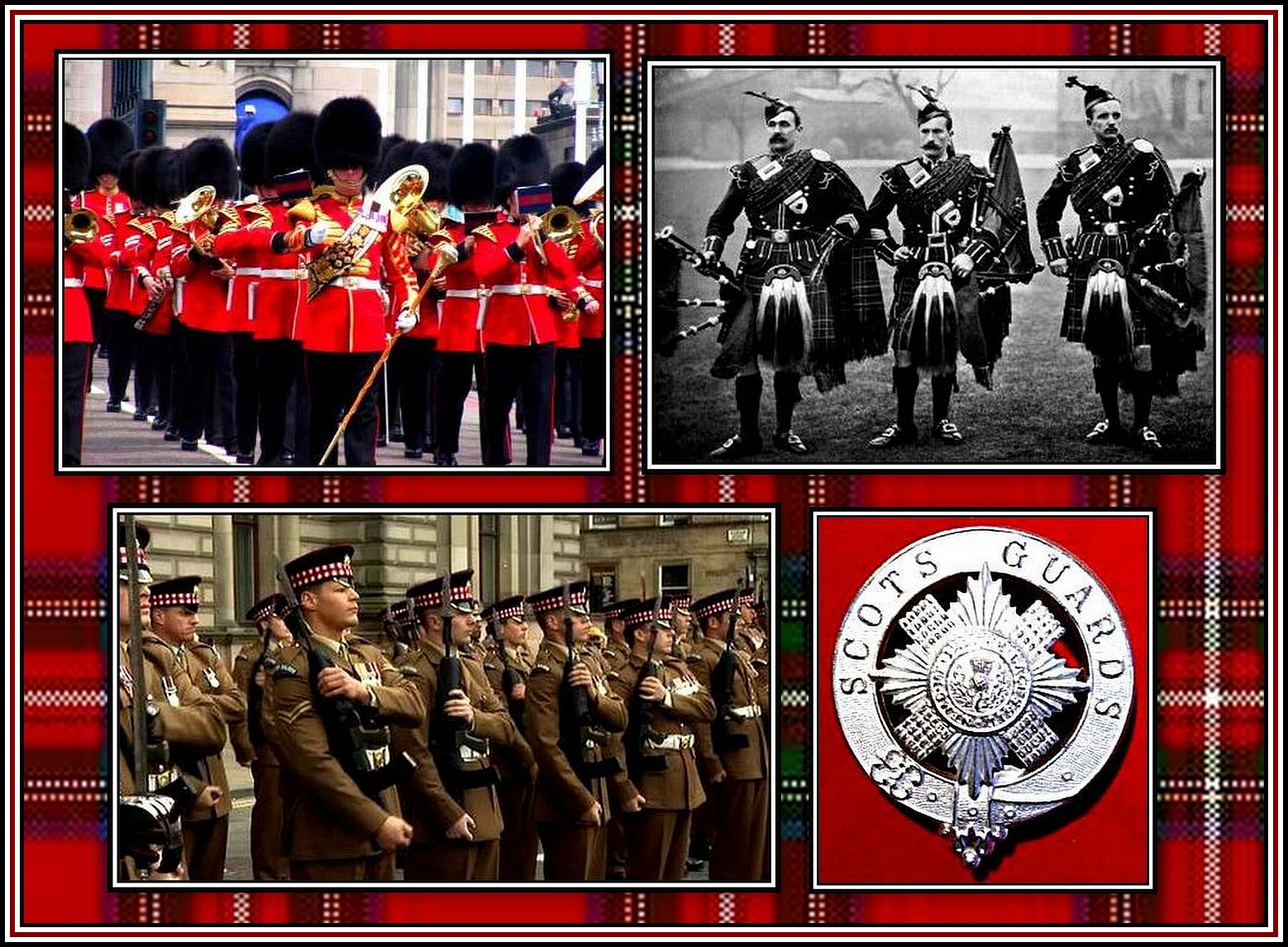 Scots Guards Collage