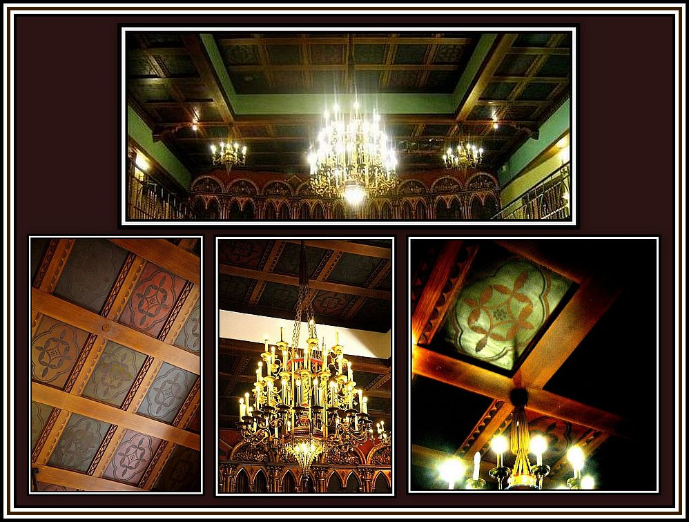 Ceiling and Chandelier Collage