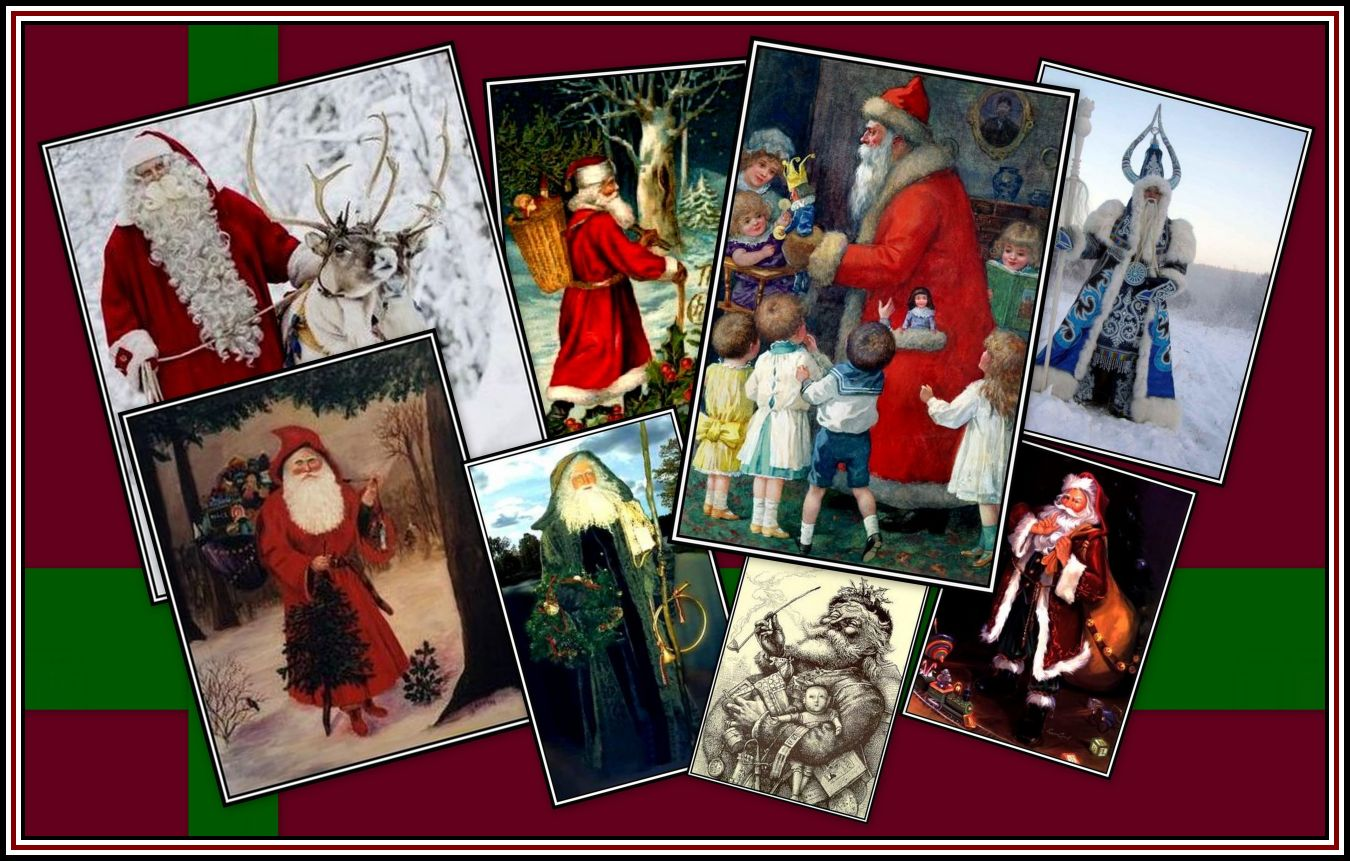 Father Christmas Collage