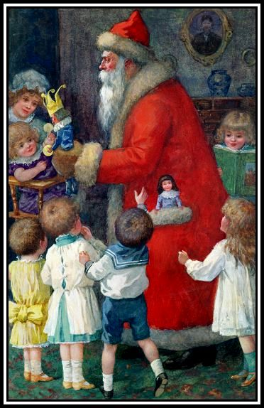 father-christmas-with-children-karl-roger
