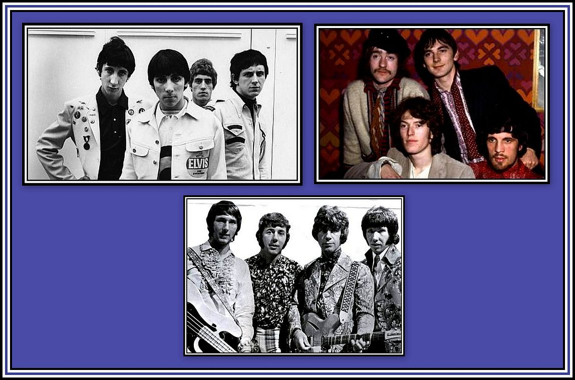 The Who, Traffic & The Tremeloes Collage