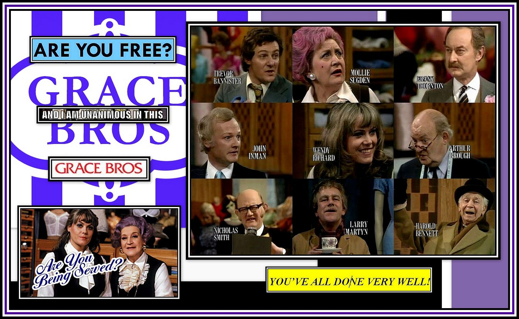 Are you being served Collage 2