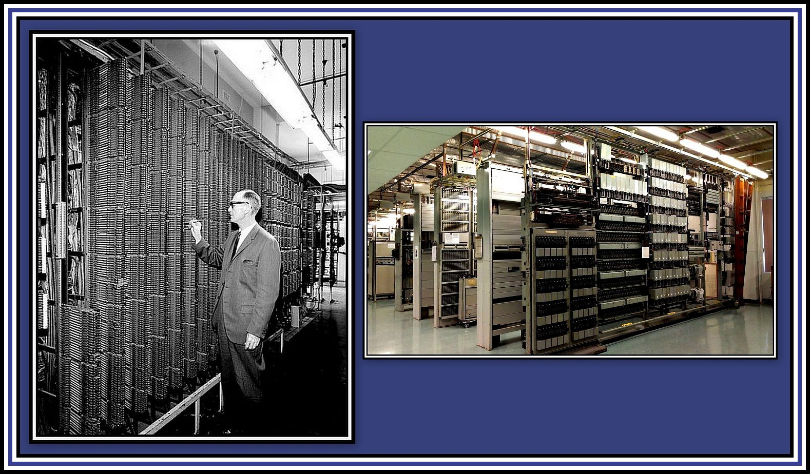 Automated Telephone Exchange Collage