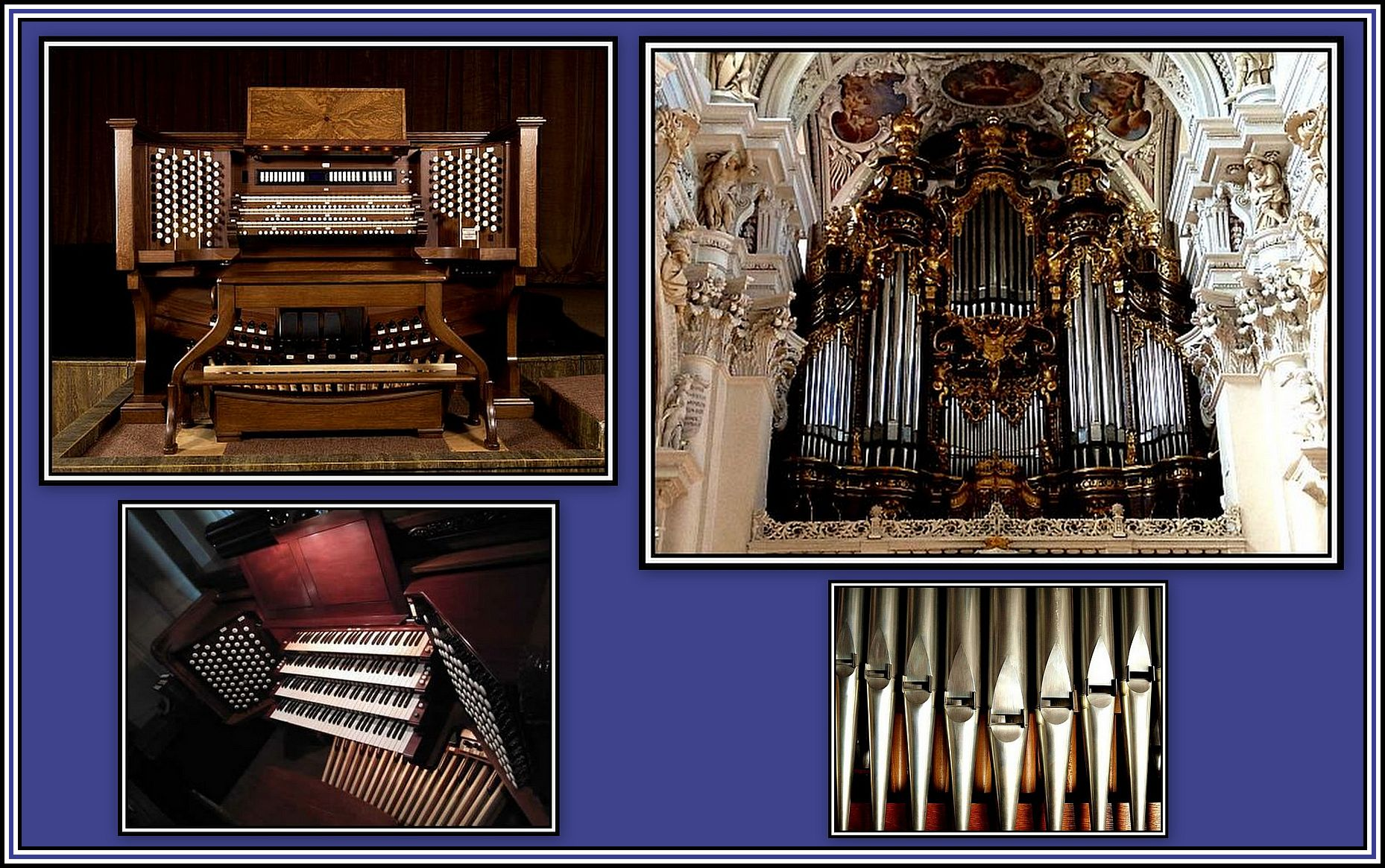 Pipe Organ Collage