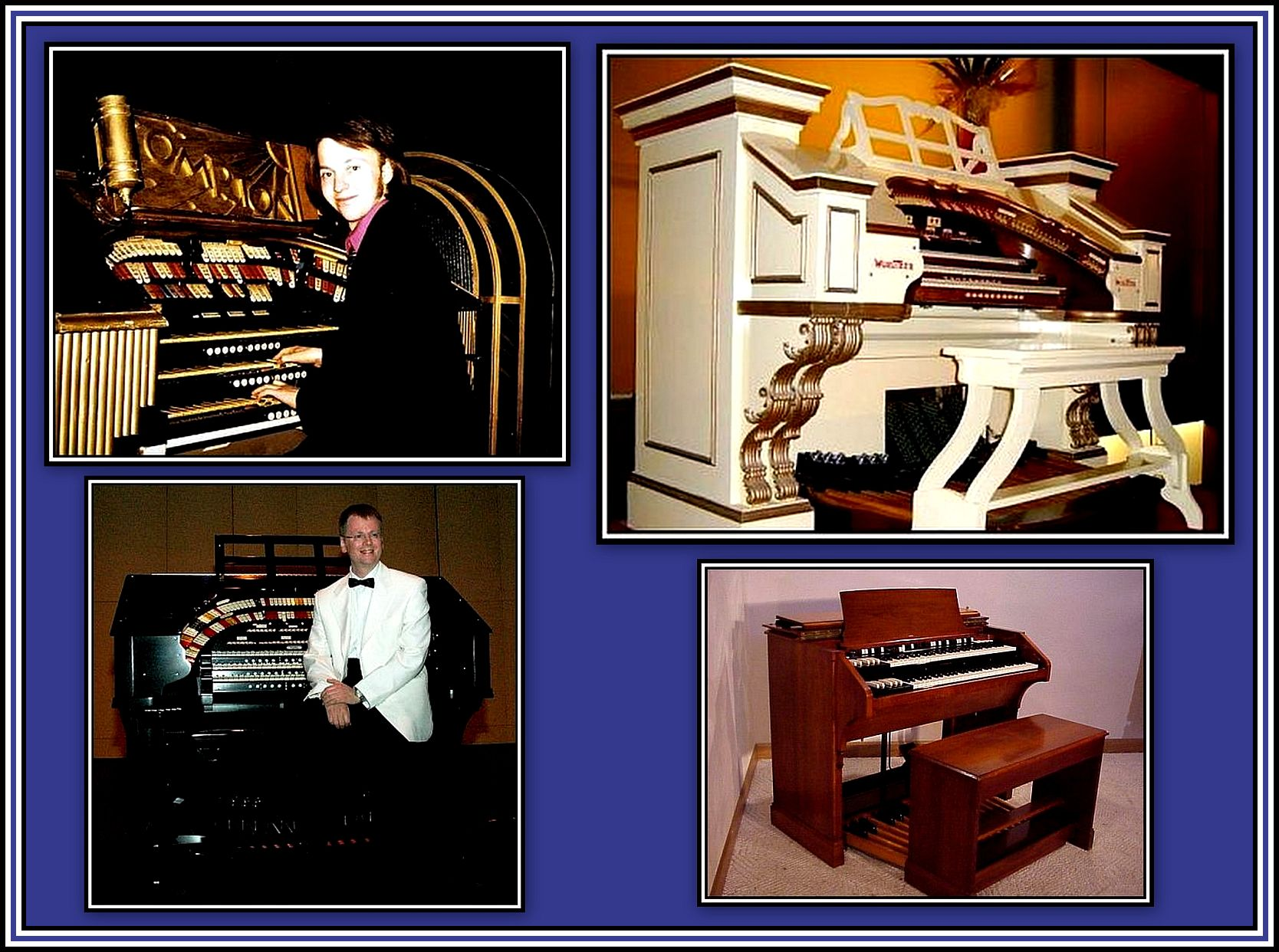 Theatre Organ Consoles Collage