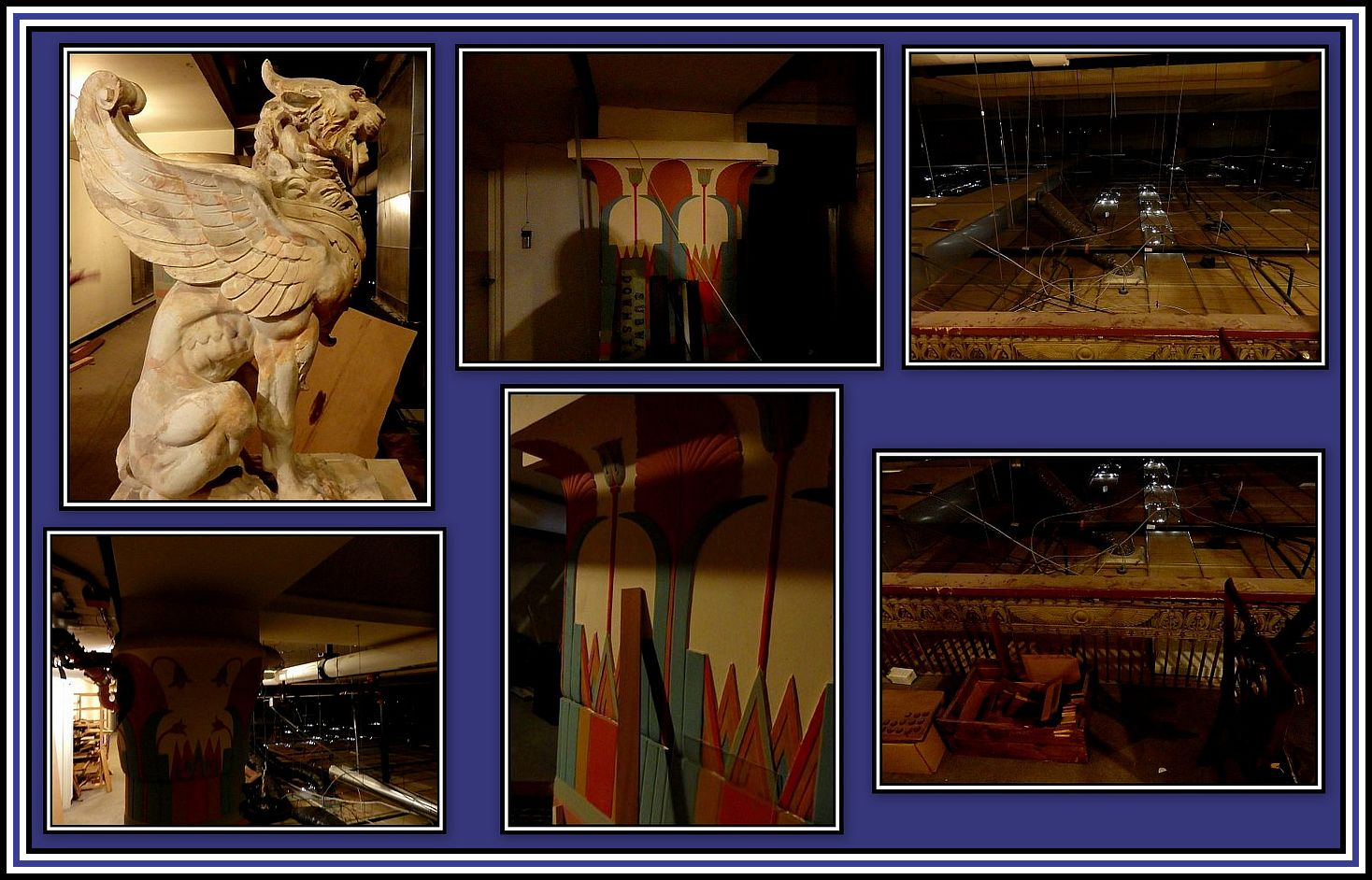 Egyptian Hall Collage