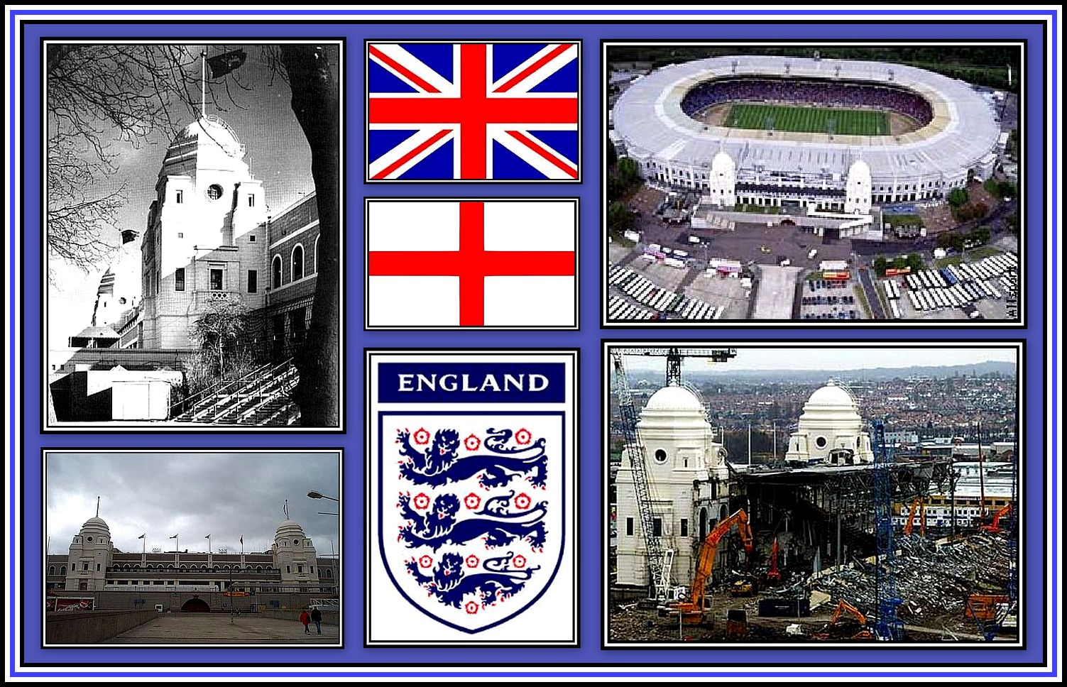 Old Wembley Stadium Collage