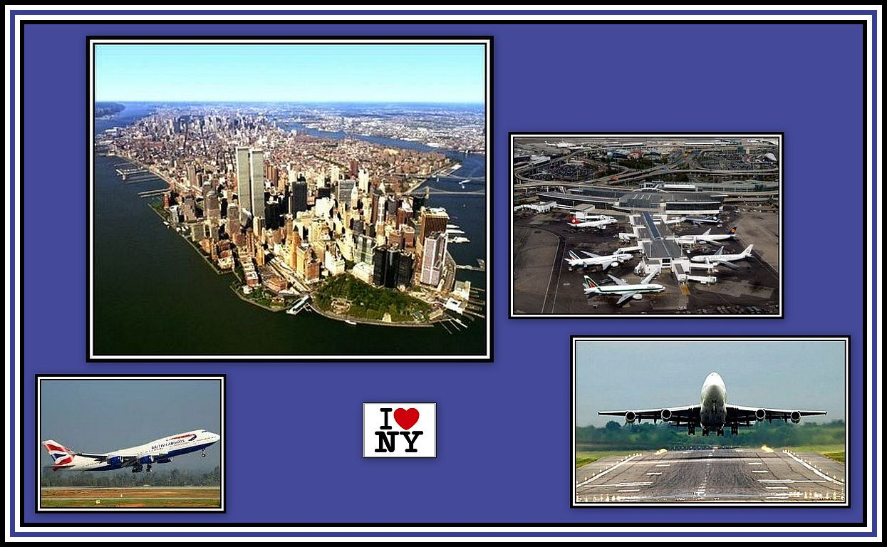 Flying to NYC Collage