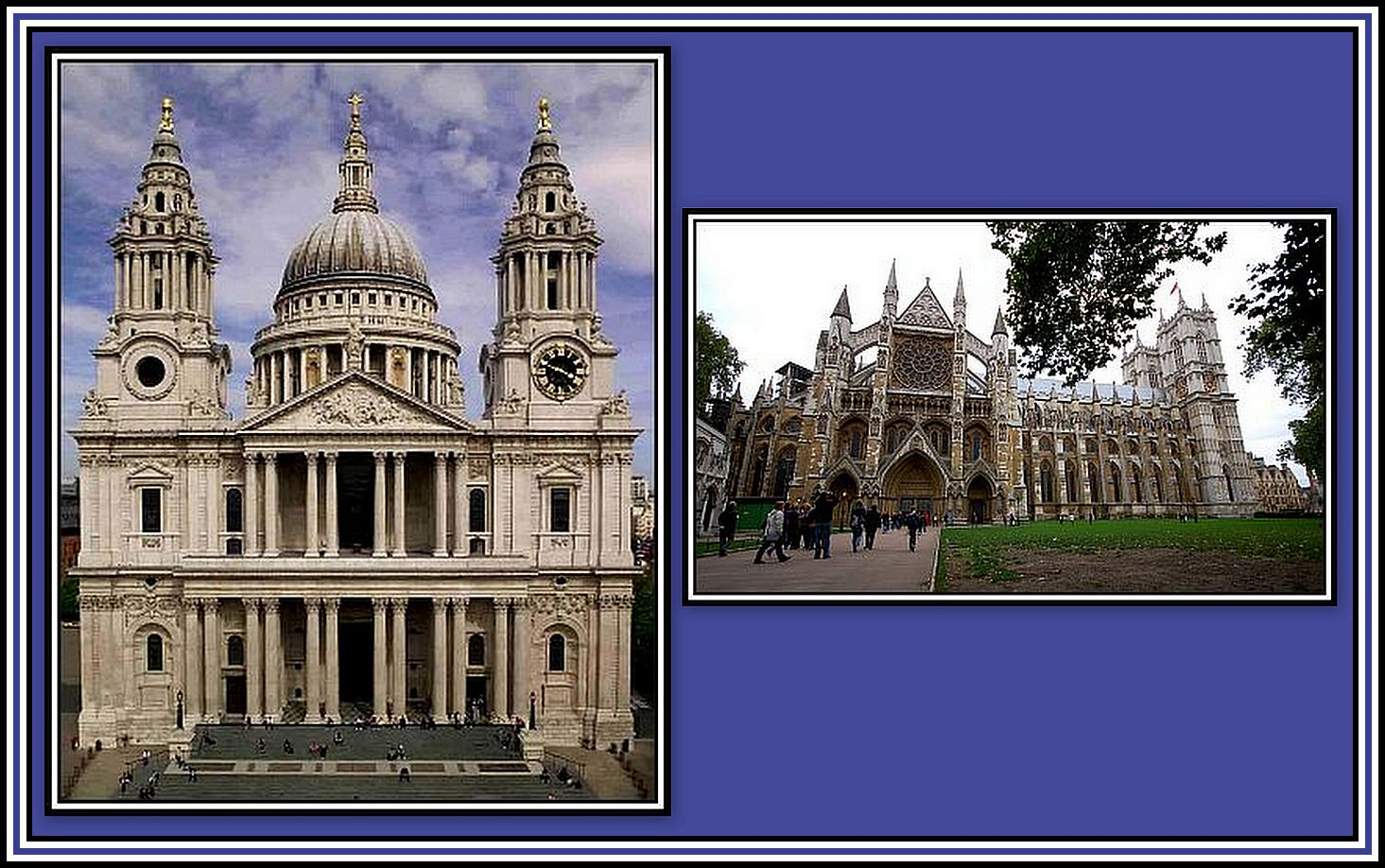 St. Paul's & Westminster Abbey Collage